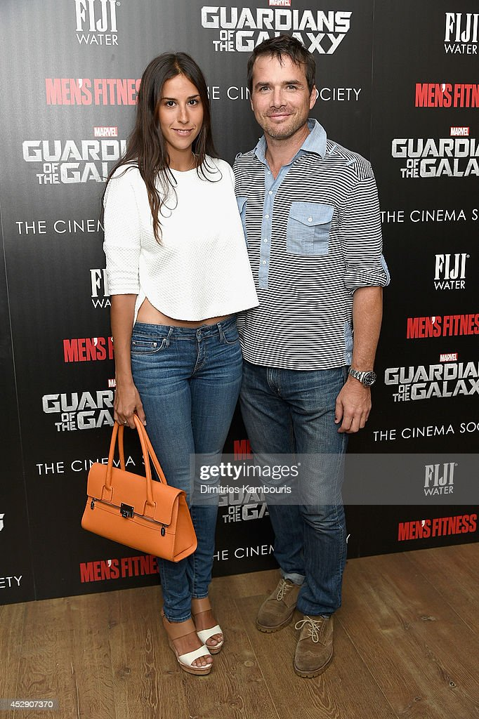 Maria Alfonsin (L) and <a gi-track='captionPersonalityLinkClicked' href=/galleries/search?phrase=Matthew+Settle&family=editorial&specificpeople=214670 ng-click='$event.stopPropagation()'>Matthew Settle</a> attend The Cinema Society with Men's Fitness and FIJI Water special screening of Marvel's 'Guardians of the Galaxy' at Crosby Street Hotel on July 29, 2014 in New York City.