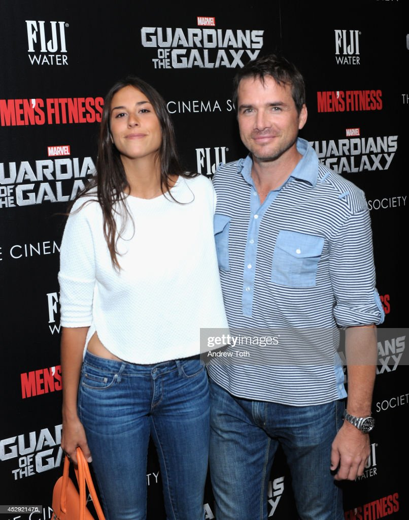 Maria Alfonsin (L) and <a gi-track='captionPersonalityLinkClicked' href=/galleries/search?phrase=Matthew+Settle&family=editorial&specificpeople=214670 ng-click='$event.stopPropagation()'>Matthew Settle</a> attend The Cinema Society with Men's Fitness & FIJI Water host a screening of 'Guardians of the Galaxy' on July 29, 2014 in New York City.