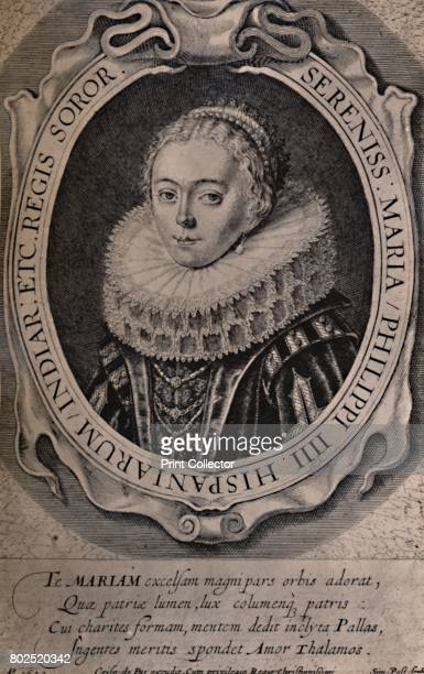 Maria Anna Queen of Bohemia and Hungary 17th century From A Collection of Engraved Portraits Exhibited by the Late James Anderson Rose at the Opening...