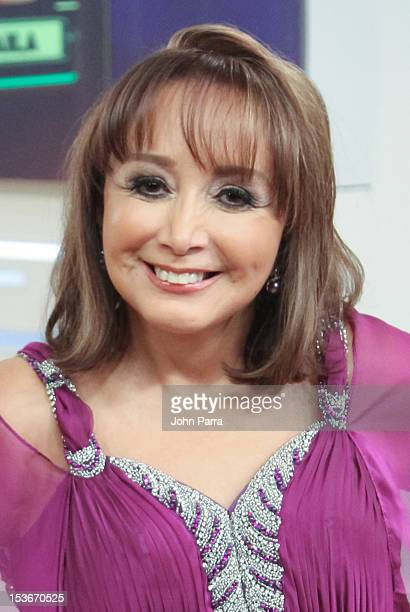 Maria Antonieta de las Nieves backstage during Univisions Mira Quien Baila on October 6 2012 in Miami Florida
