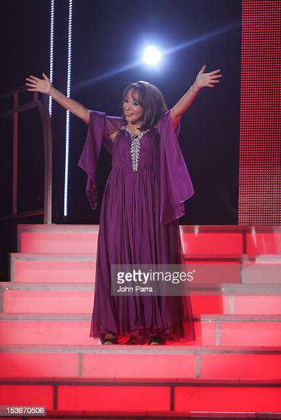 Maria Antonieta de las Nieves performs in Univisions Mira Quien Baila on October 6 2012 in Miami Florida