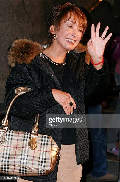 Maria Antonieta De las Nieves poses for a photo during the Bravo awards on October 5 2010 in Mexico City Mexico