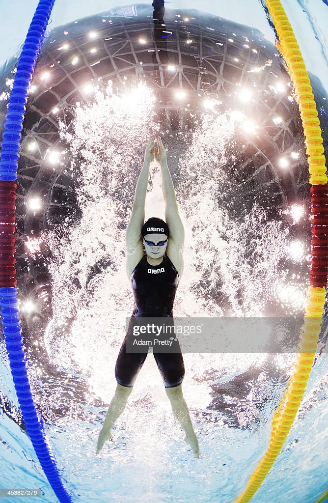 Maria Atashkina of Russia swims the Women's 100m Breastroke heats during the 32nd LEN European Swimming Championships at Europa-Sportpark on August 19, 2014 in Berlin, Germany.