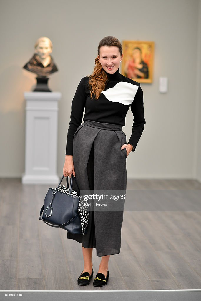 Maria Baibakova attends the private view for Frieze Masters at on October 15, 2013 in London, England.