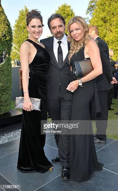 Maria Baibakova Keith Tyson and Fru Tholstrup attend The 11th Annual White Tie and Tiara Ball to Benefit the Sir Elton John Aids Foundation in...