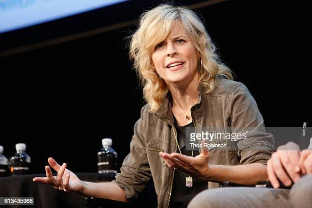 Maria Bamford speaks at The New Yorker Festival 2016 'Crazy Funny Mental Health And TV Comedy' featuring Maria Bamford Raphael BobWaksberg Stephan...