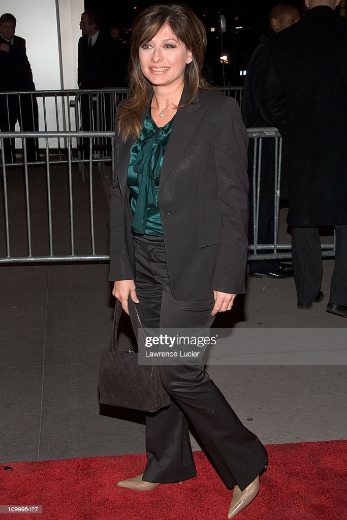 Maria Bartiromo during The Sopranos Sixth Season New York City Premiere - Outside Arrivals at Museum of Modern Art in New York City, New York, United States.