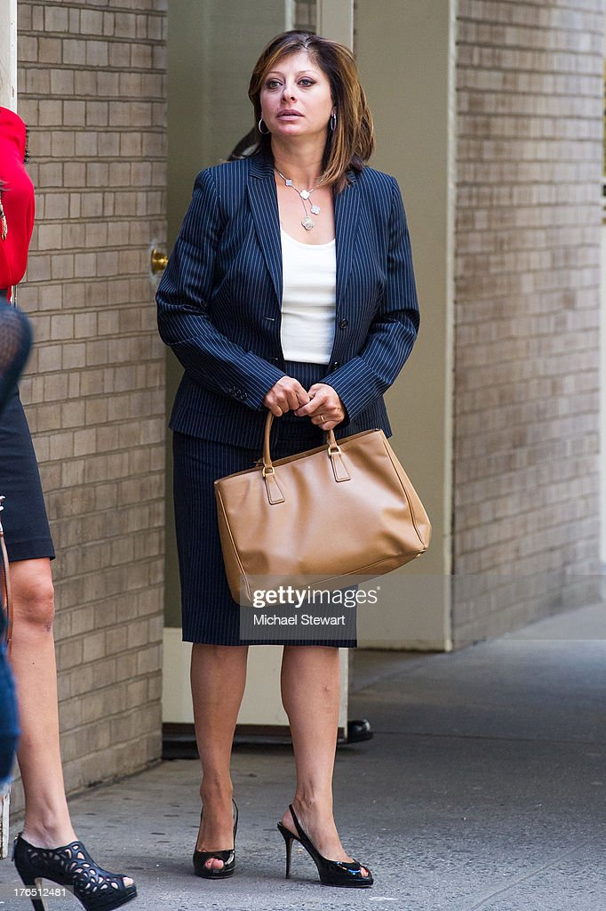 Maria Bartiromo seen on the streets of Manhattan on August 14, 2013 in New York City.