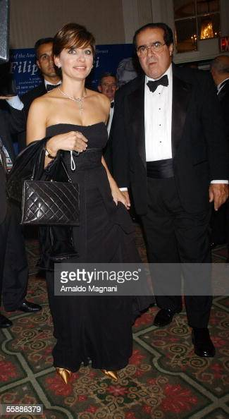 Maria Bartolomo attends a Media conference dinner naming US Supreme Court Justice Antonin Scalia as Grand Marshal of New York's Columbus Day Parade...