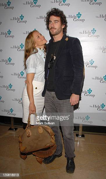 Maria Bello and Bryn Mooser during Help Group Huminatarian Awards at The Beverly Hilton Hotel in Beverly Hills CA United States