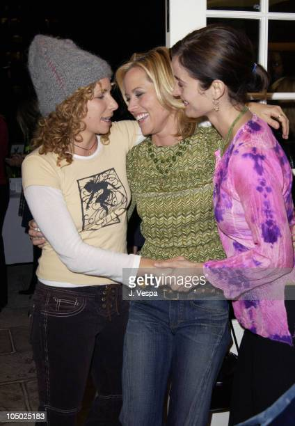 Maria Bello and CarrieAnne Moss during Frederic Fekkai's 'Night of Beauty Jewelry and Fun' to Benefit Hands of Change at Frederic Fekkai Salon in...
