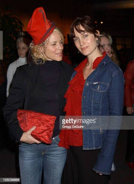 Maria Bello and CarrieAnne Moss during VDay LA 2003 at The Directors Guild Theatre in Los Angeles California United States
