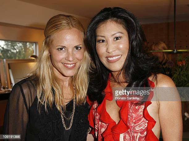 Maria Bello and DrJessica Wu during Renowned Dermatologist Dr Jessica Wu and actress Maria Bello host an evening of beauty to benefit Half The Sky...