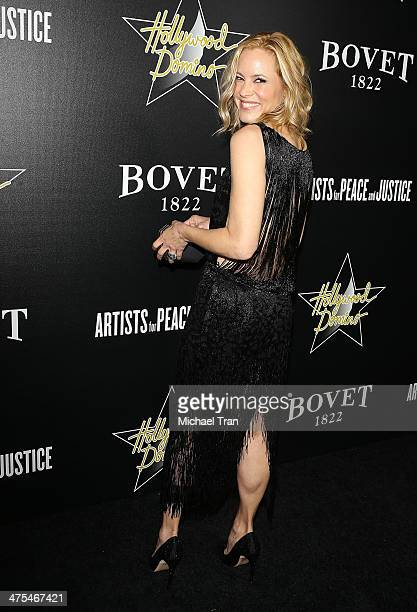 Maria Bello arrives at the Hollywood Domino's 7th Annual PreOscar Charity Gala held at Sunset Tower on February 27 2014 in West Hollywood California