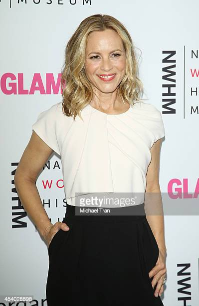 Maria Bello arrives at the National Women's History Museum's 3rd Annual Women Making History event held at Skirball Cultural Center on August 23 2014...
