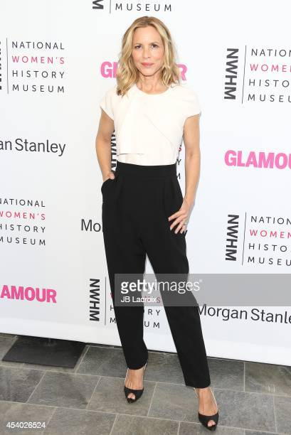 Maria Bello attends the 3rd Annual Women Making History Brunch presented by the National Women's History Museum and Glamour Magazine at the Skirball...