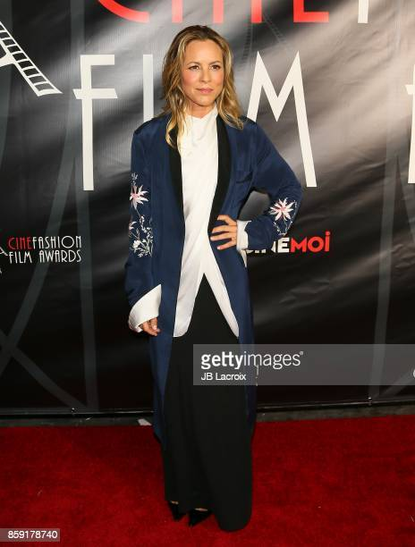 Maria Bello attends the 4th Annual CineFashion Film Awards on October 08 2017 in Los Angeles California