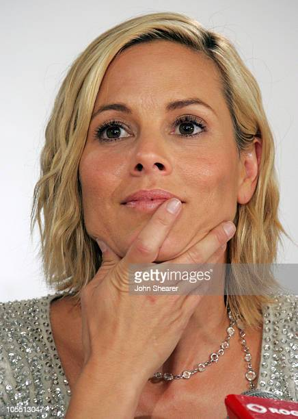Maria Bello during 2005 Toronto Film Festival 'A History of Violence' Press Conference at Sutton Place Hotel in Toronto Canada