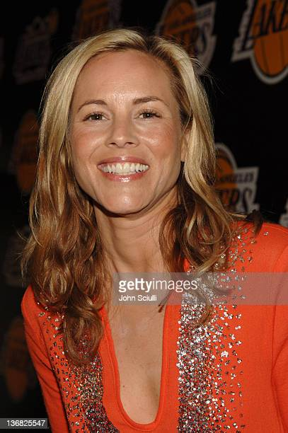 Maria Bello during 2nd Annual Lakers Casino Night Benefiting the Lakers Youth Foundation Red Carpet and Inside at Barker Hanger in Santa Monica...