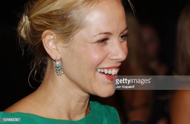 Maria Bello during Aerin Lauder Carolyn Murphy Launch 'Beyond Paradise' at Private Residence in Beverly Hills California United States