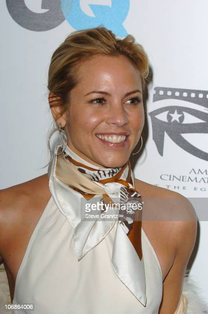 Maria Bello during GQ Magazine Honors Golden Globe Nominees Benefiting American Cinematheque Arrivals in Los Angeles California United States