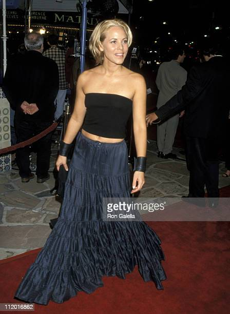 Maria Bello during 'The Matrix' Los Angeles Premiere at Manns Village Theater in Westwood California United States