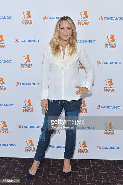 Maria Bello of 'Lights Out' visits the Fandango Studio at San Diego ComicCon International 2016 on July 21 2016 in San Diego California