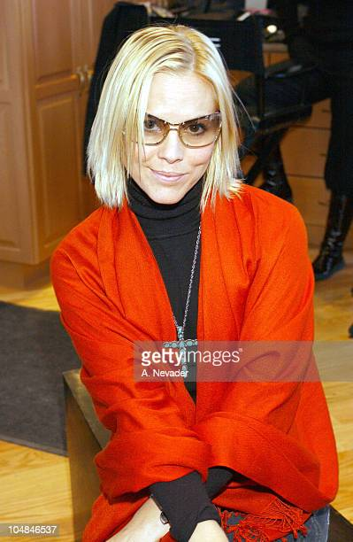 Maria Bello wearing Burberry 8955 sunglasses during Safilo at 2003 Park City Park City Utah in Park City Utah United States