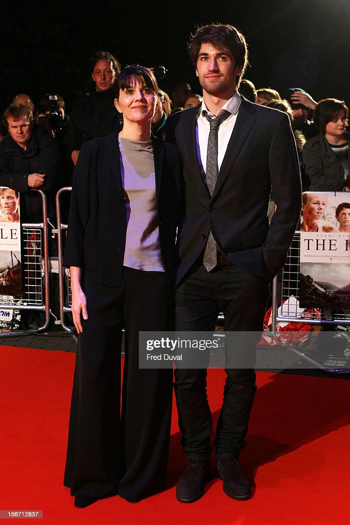 Maria Belon (L) and Lucas Belon attend the UK charity premiere of 'The Impossible' at BFI IMAX on November 19, 2012 in London, England.
