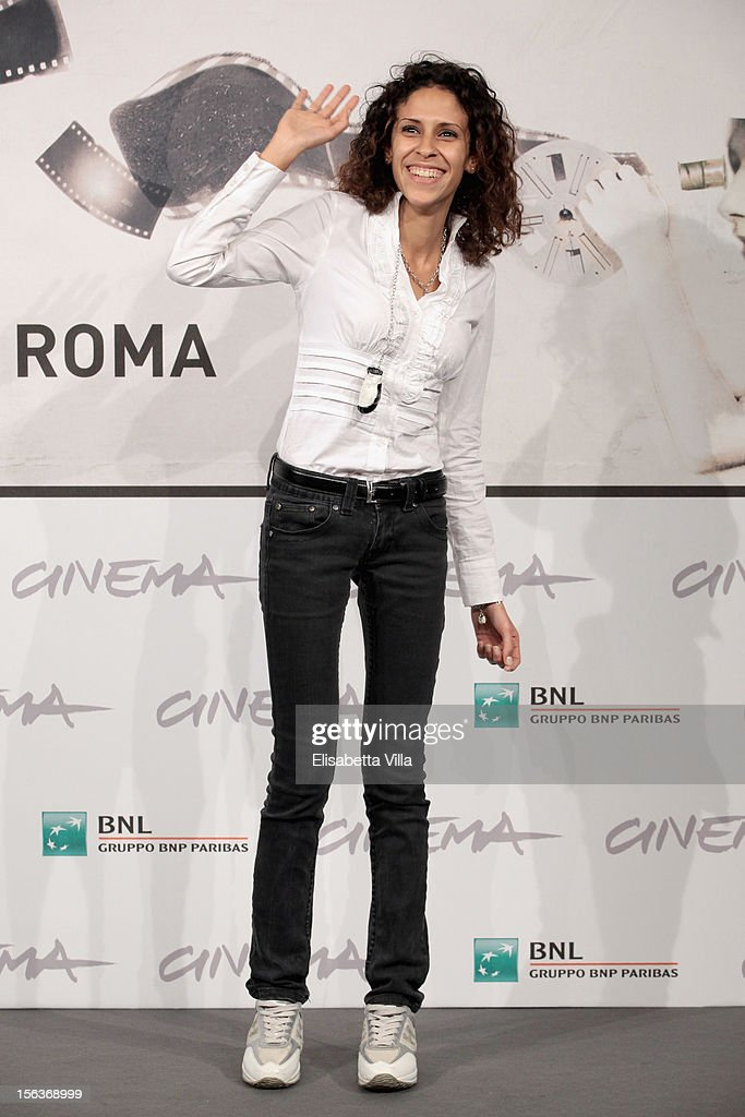 Maria Benkhalouk attends the 'Acqua Fuori Dal Ring/La Prima Legge Di Newton' Photocall during the 7th Rome Film Festival at the Auditorium Parco Della Musica on November 14, 2012 in Rome, Italy.