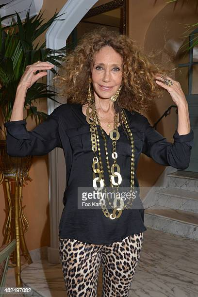 Maria Berenson poses at Hotel de La Ponche during the Marisa Berenson Launches Her Cosmetics Line At Saint Tropez Plage de Bagatelle on July 30 2015...
