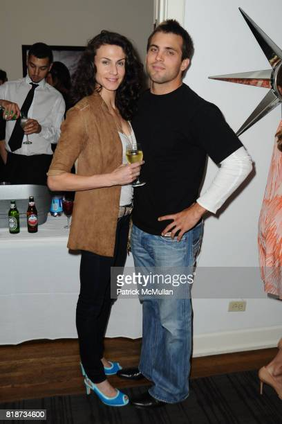 Maria Bertrand and Jeff attend Bret Easton Ellis to celebrate the publication of his new novel IMPERIAL BEDROOMS at Penthouse on June 10 2010 in...