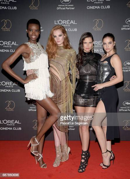 Maria Borges Alexina Graham Bianca Balti and Barbara Palvin attend the Gala 20th Birthday Of L'Oreal In Cannes during the 70th annual Cannes Film...