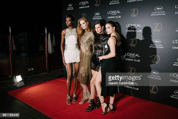 Maria Borges Alexina Graham Bianca Balti and Barbara Palvin attend the L'Oreal Paris Cinema Club party during the 70th annual Cannes Film Festival on...