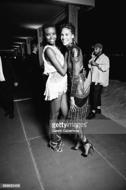 Maria Borges and Ciny Bruna attend L'Oreal Paris Cinema Club party during the 70th Cannes Film Festival at Martinez Hotel on May 24 2017 in Cannes...
