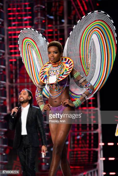Maria Borges attends 2017 Victoria's Secret Fashion Show In Shanghai Show at MercedesBenz Arena on November 20 2017 in Shanghai China