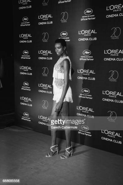 Maria Borges attends L'Oreal Paris Cinema Club party during the 70th Cannes Film Festival at Martinez Hotel on May 24 2017 in Cannes France