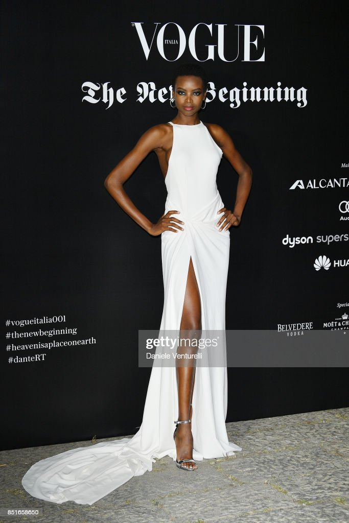 Maria Borges attends the Vogue Italia 'The New Beginning' Party during Milan Fashion Week Spring/Summer 2018 on September 22, 2017 in Milan, Italy.