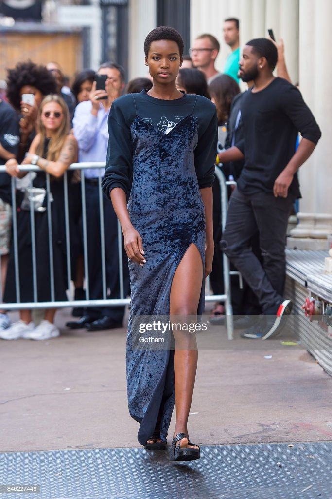 Maria Borges walks the runway during the Baja East fashion show during New York Fashion Week in SoHo on September 12, 2017 in New York City.