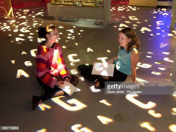 Maria Boron and Vicky Hughes experiencing the 'Medicine Matters' section at the 'Think Tank' in Birmingham's Millennium Point which was previewed...
