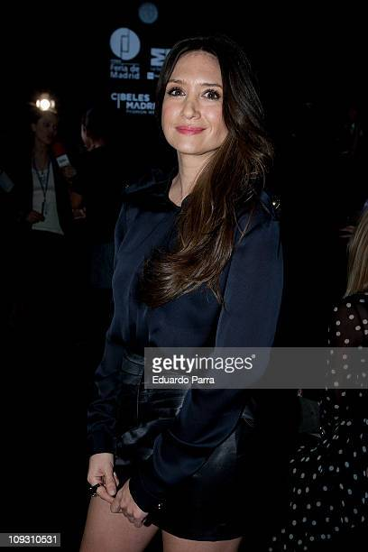 Maria Boto attends the Juanjo Oliva fashion show during the Cibeles Madrid Fashion Week A/W 2011 at Ifema on February 20 2011 in Madrid Spain