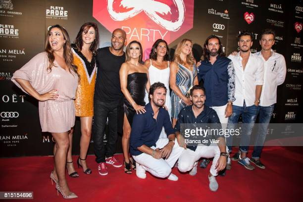 Maria Bravo Amaury Nolasco Eva Longoria Bastón Pilar Garcia de la Granja Ana Obregón and guests attend The Global Gift Party> on July 15 2017 in...