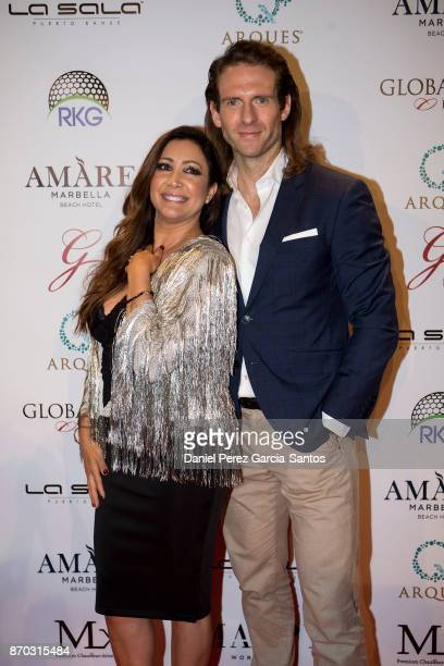 Maria Bravo and Craig McGinlay attend at the 2nd Annual Global Gift Ronan Keating Golf Tournament Dinner and Concert on November 04 2017 in Marbella...