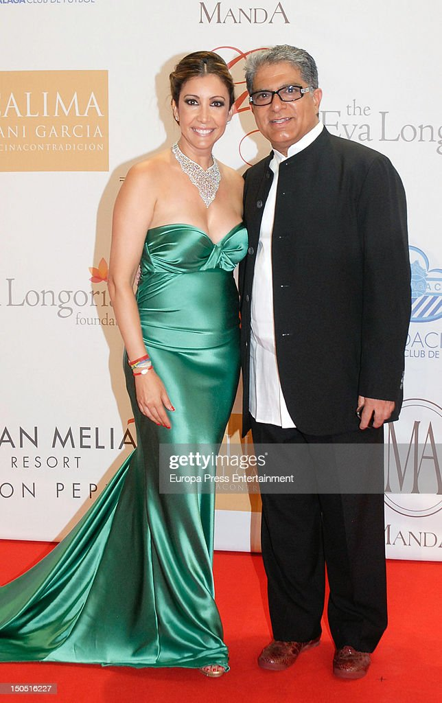 Maria Bravo and Deepak Chopra attend the Global Gift Gala 2012 a party held by Cesare Scariolo Foundation and Eva Longoria Foundation to raise money...