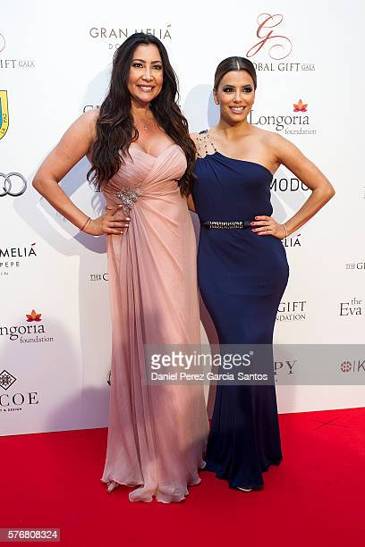Maria Bravo and Eva Longoria attend the Global Gift Gala 2016 red carpet at Gran Melia Don pepe Resort on July 17 2016 in Marbella Spain