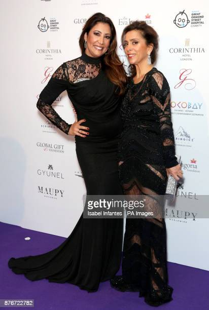 Maria Bravo and Karen Rulmy attending the Global Gift Gala held at The Corinthia Hotel in London PRESS ASSOCIATION Photo Picture date Saturday...