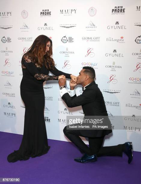 Maria Bravo and Maxwell attending the Global Gift Gala held at The Corinthia Hotel in London PRESS ASSOCIATION Photo Picture date Saturday November...