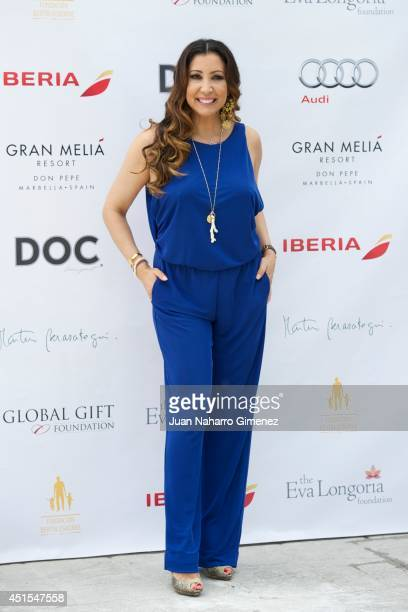 Maria Bravo attends 'Weekend Philanthropic Marbella 2014' presentation at KBK Restaurant on July 1 2014 in Madrid Spain