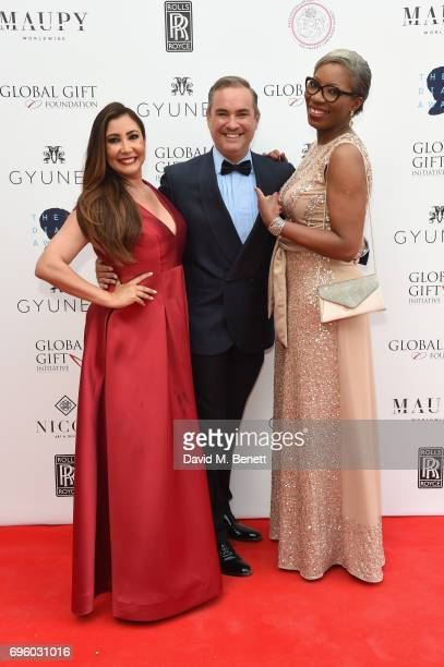 Maria Bravo Nick Ede and Tessy Ojo attend the Global Gift Gala for The Diana Award hosted by Earl Spencer at Althorp House on June 14 2017 in...