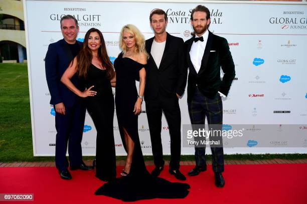Maria Bravo Pamela Anderson a guest and Craig McGinlay attend The Costa Smeralda Invitational Gala Dinner at Cala di Volpe Hotel Costa Smeralda on...